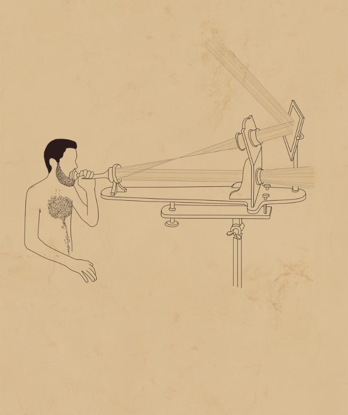 Karam Natour, The Sensual World, 2018, digital drawing, 80x50 cm