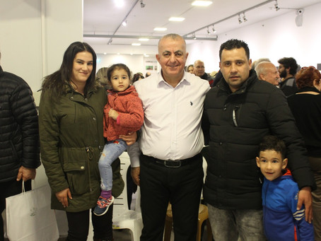 The rainy weather haven't prevented attendance of hundreds for the exhibitions at Umm El Fahem G