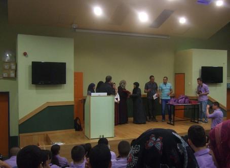 The Gallery of Umm El Fahem arranged art workshops in the El-Ahlya high school in Umm El Fahem