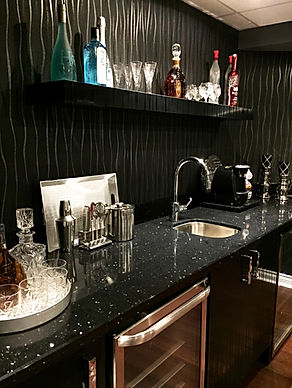 Basement Bar - Interior Designer Oakville