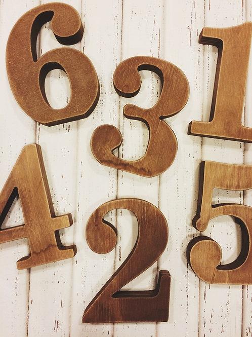 Номерки деревянные (на подставках)