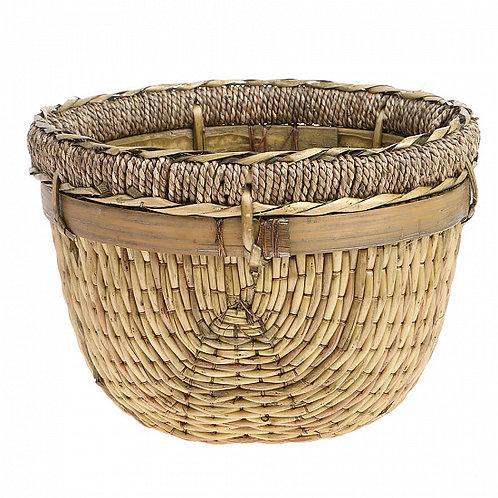 Корзина из бамбука, мешковины