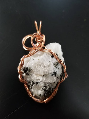 Rainbow moonstone wire wrap
