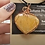 Thumbnail: Yellow-orange calcite heart pendant wrapped in copper