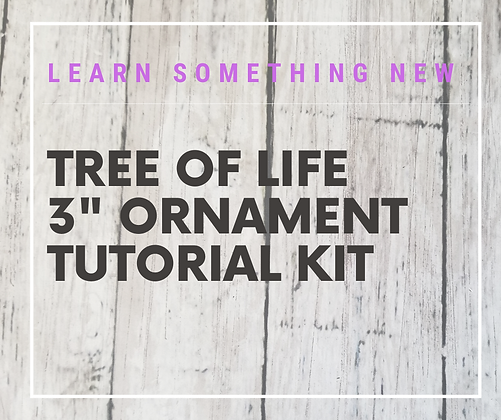 "3"" Ornament Tutorial Kit- learn something new!"