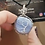 Thumbnail: Blue lace agate tree of life in silver-filled wire