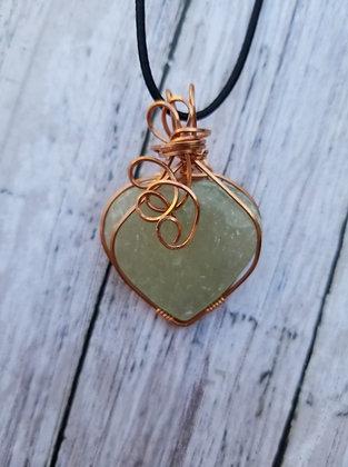 Green aventurine heart pendant
