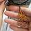 Thumbnail: Open hoop fire tree of life; teardrop pendant