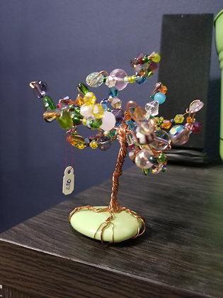 Free-standing beaded tree