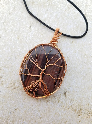 Black tiger eye tree of life