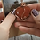 Thumbnail: Red jasper copper wire wrapped heart pendant necklace
