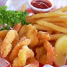 Shrimp in basket Platter