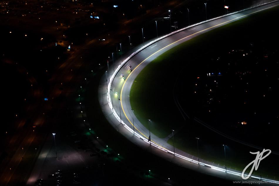 January 30-31, 2016: Daytona 24 hour: Arial of Daytona banking from the air.