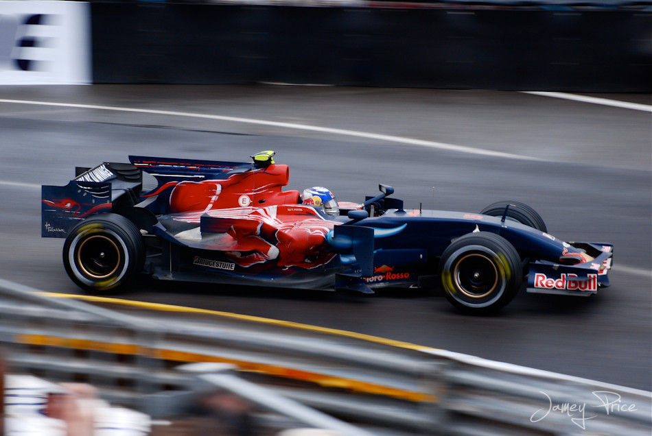 Rookie Sebastian Vettel picks up a few well deserved points during a wet/dry race.