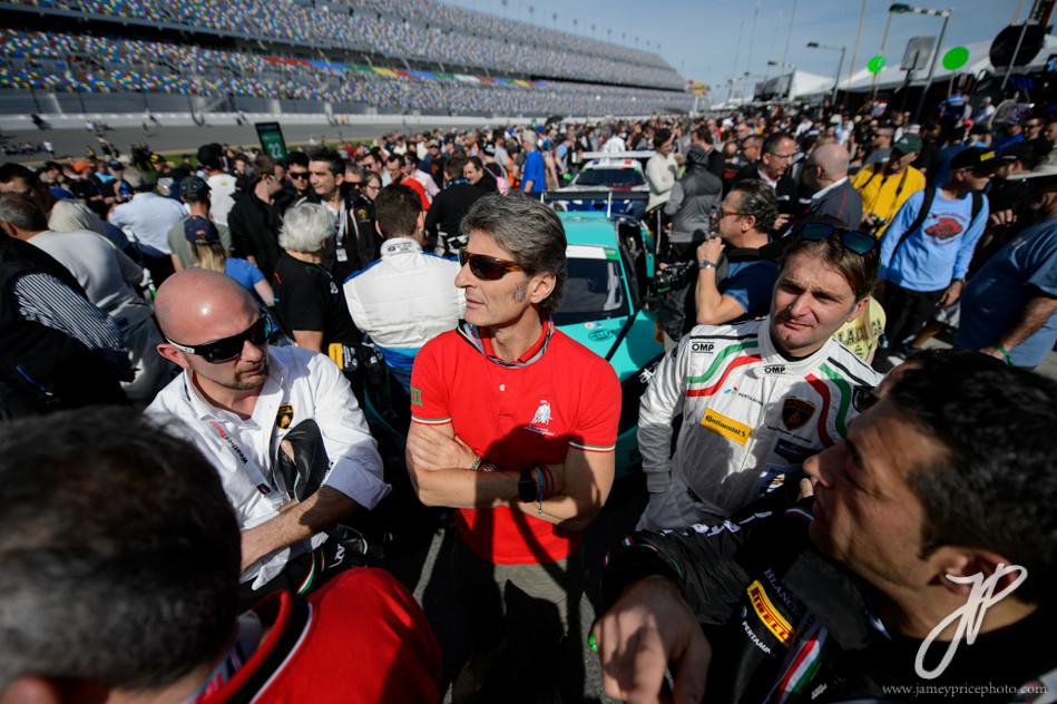 January 27-31, 2016: Daytona 24 hour: Stephan Winkelmann, CEO of Lamborghini