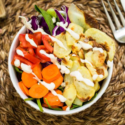 Potato Aioli Veggie Bowl