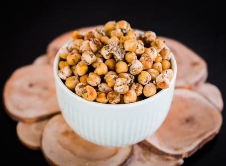Healthy Ranch Roasted Chickpeas (oil free)