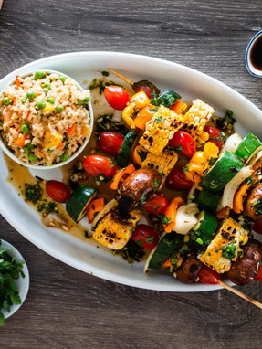 HOW TO MAKE VEGGIE SKEWERS and a DELICIOUS MARINADE