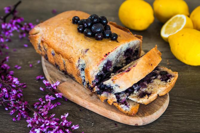 VEGAN LEMON BLUEBERRY POUND CAKE + Superb LEMON GLAZE