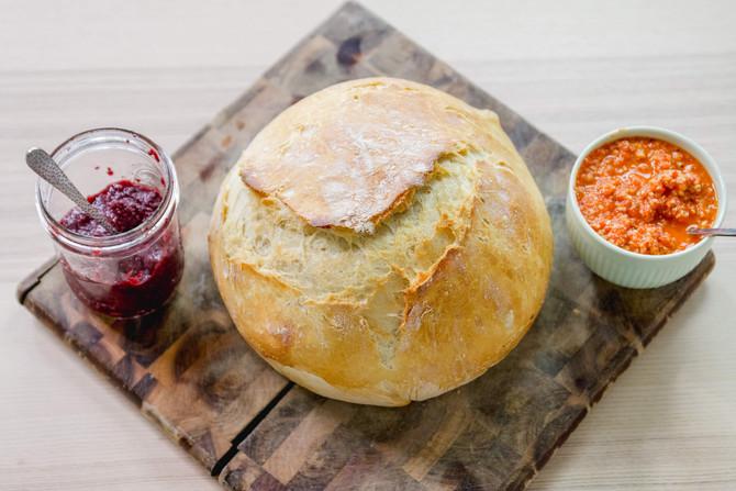 SAVORY & SWEET: 2 Vegan Bread Spreads   Cherry Chia Seed Jam   Roasted Red Pepper Tapenade