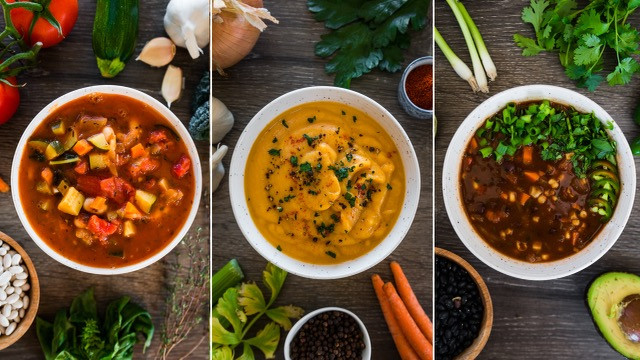 3 EASY AND HEALTHY VEGAN SOUPS