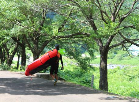 最高!!初めて長良川上流域をパックラフトで下る。