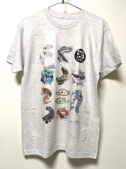 フラワートーマンTシャツ 白 各サイズ