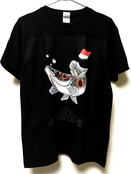 フラワートーマンTシャツ 黒 各サイズ