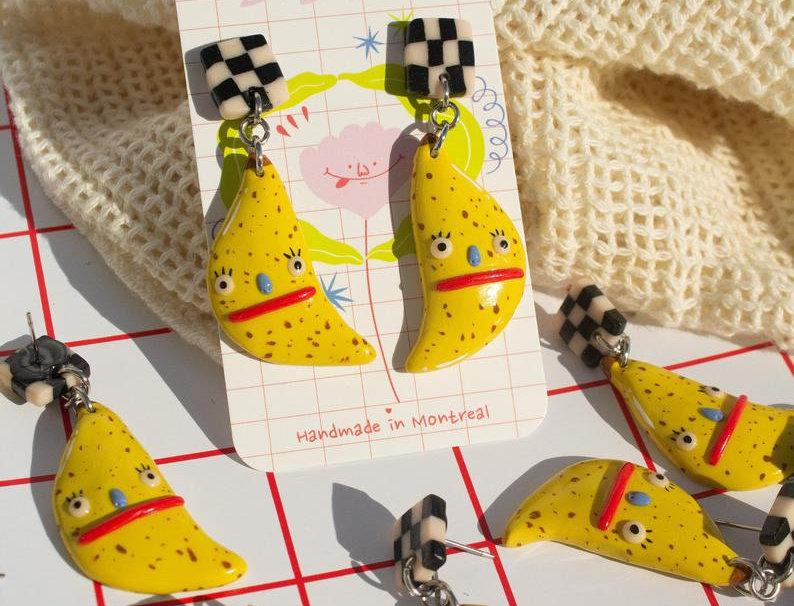 Bored Banana Earrings