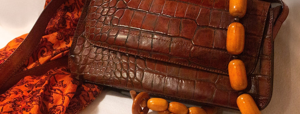 Crocodile Handbag, 3-Piece Set