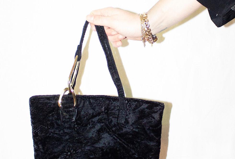 Crushed Velvet Handbag