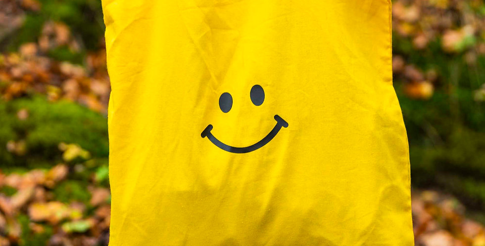 Yellow Smiley Tote