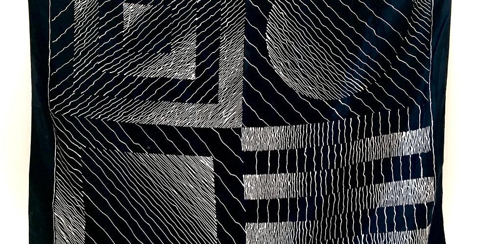 Op Art Silk Scarf