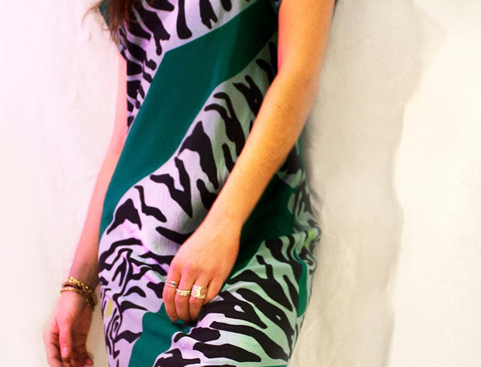 Diane von Furstenberg Silk Tiger Print Dress