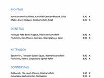 Wochenkarte Fischladen Prenzlauer Berg