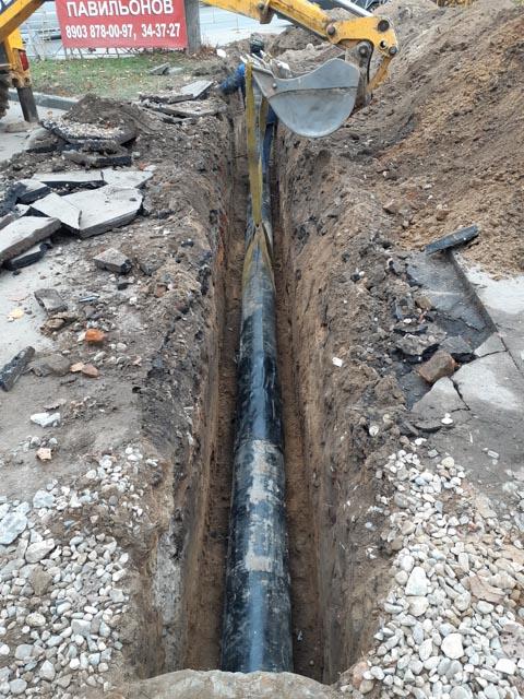 Монтаж трассы ливневой канализации