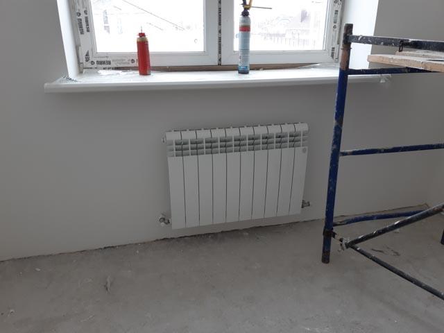 Монтаж радиаторов в коттедже