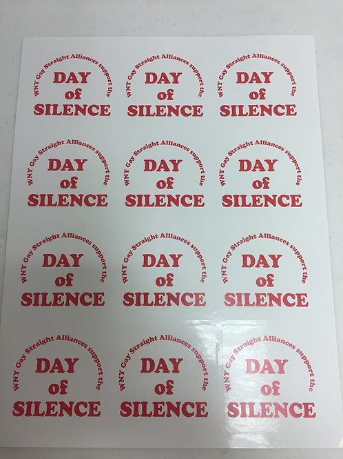 Day of Silence Sticker - Red GSA