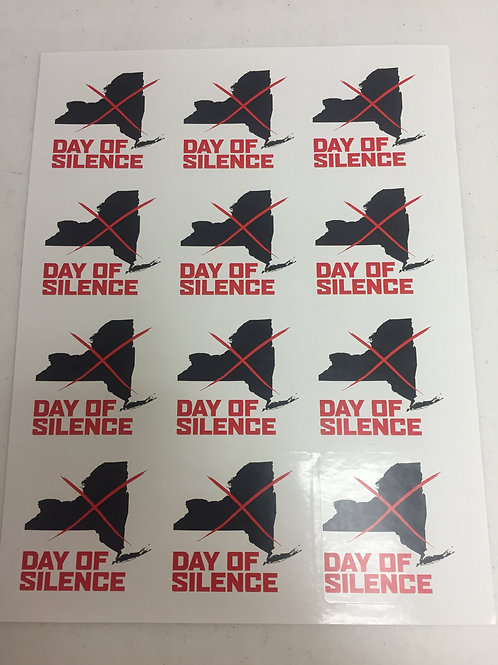 Day of Silence NYS Sticker