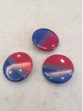Bisexual Button 1""