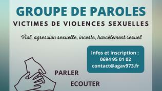 Groupes de paroles - victimes de violences sexuelles