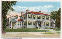 Leavitt-Hovey House, Greenfield, MA, used as public library