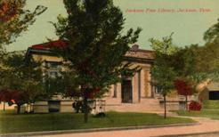 S.H. Kress postcard of Jackson, TN's Carnegie library