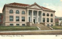 Eau Claire's Carnegie library building. Extant.