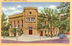 Columbus, IN Carnegie building, no longer extant