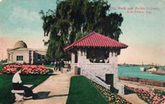 San Pedro's city park and Carnegie library.