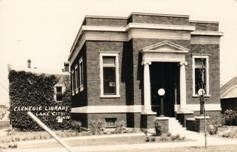 Miniscule Carnegie library building of Lake City, MN. Demolished.