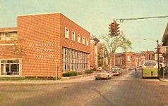 Mid-century brick public library, Westport, CT
