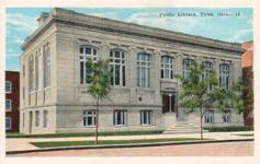 Tulsa, OK Carnegie library, razed, 1965. E.C. Kropp postcard.