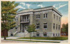 Clay Center, NE Carnegie library. 2 storey with English basement.